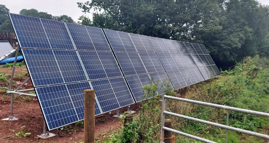 Wivey Pool solar panels wide